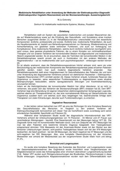 IMEDIS Report - Medizinische Rehabilitation - Cover_DEU